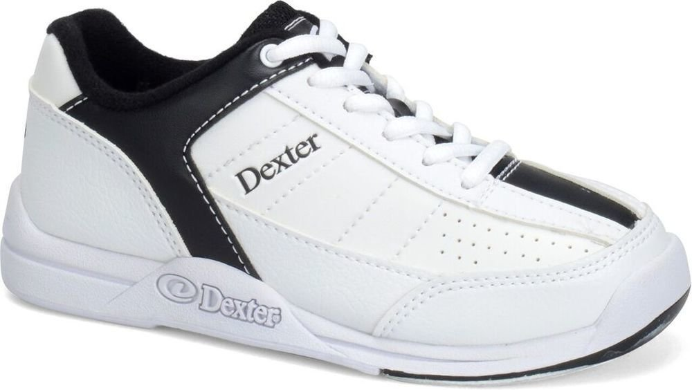 Dexter Mens Ricky IV White/Black Wide Width Bowling Shoes 116