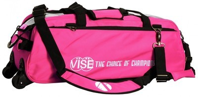 Vise 3 Ball Clear Top Tote Roller Pink