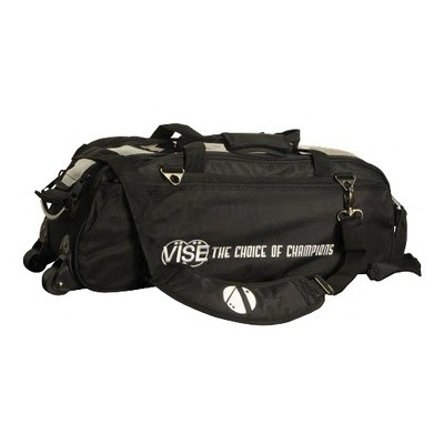 Vise 3 Ball Clear Top Tote Roller Black