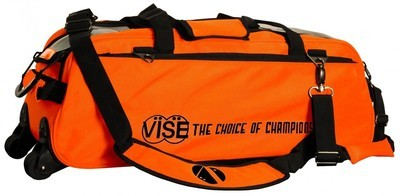Vise 3 Ball Clear Top Tote Roller Orange