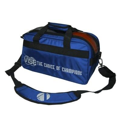 Vise 2 Ball Clear Top Bowling Bag Blue