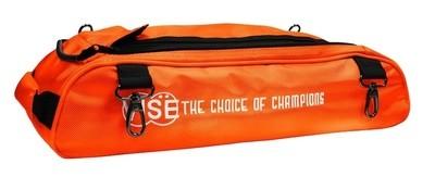 Vise 3 Ball Clear Top Tote Roller Shoe Bag Orange