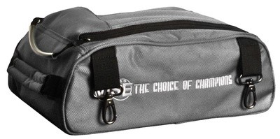 Vise 2 Ball Clear Top Roller Shoe Bag Grey