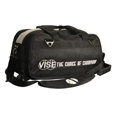 Vise 2 Ball Clear Top Roller Bowling Bag Black