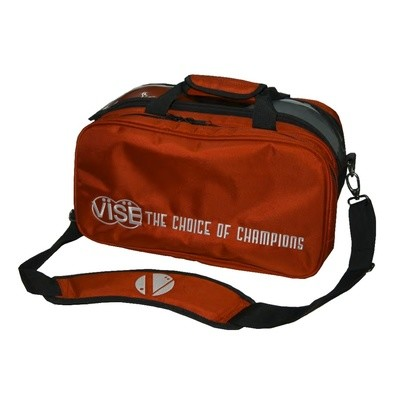 Vise 2 Ball Clear Top Tote Plus Bowling Bag Red