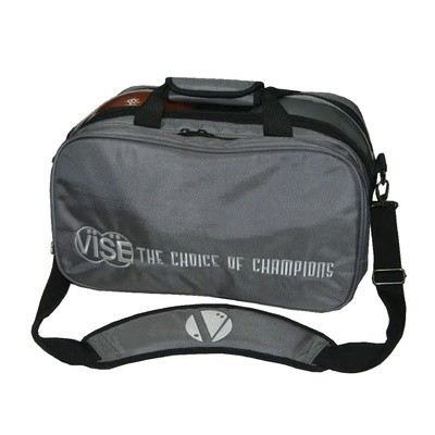 Vise 2 Ball Clear Top Tote Plus Bowling Bag Grey
