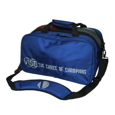 Vise 2 Ball Clear Top Tote Plus Bowling Bag Blue