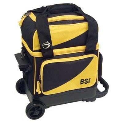 BSI Black/Yellow Single Roller Bowling Bag