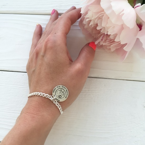 Пример кулона на браслете