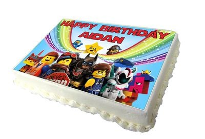 A4 Lego Movie 2 Personalised Real Icing Cake Topper