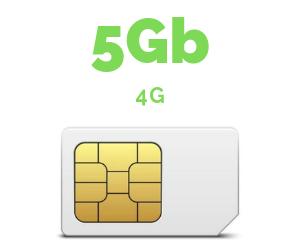 ONLY SIM 5 GB