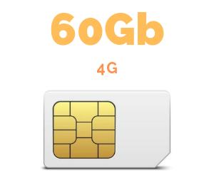 ONLY SIM 60 GB