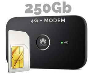 WIFI MODEM MIFI 250 GB