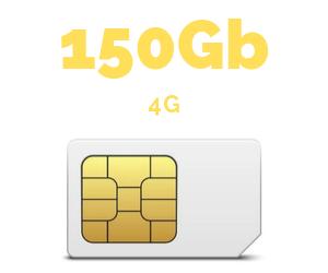 ONLY SIM 150 GB