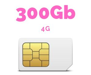 ONLY SIM 300 GB