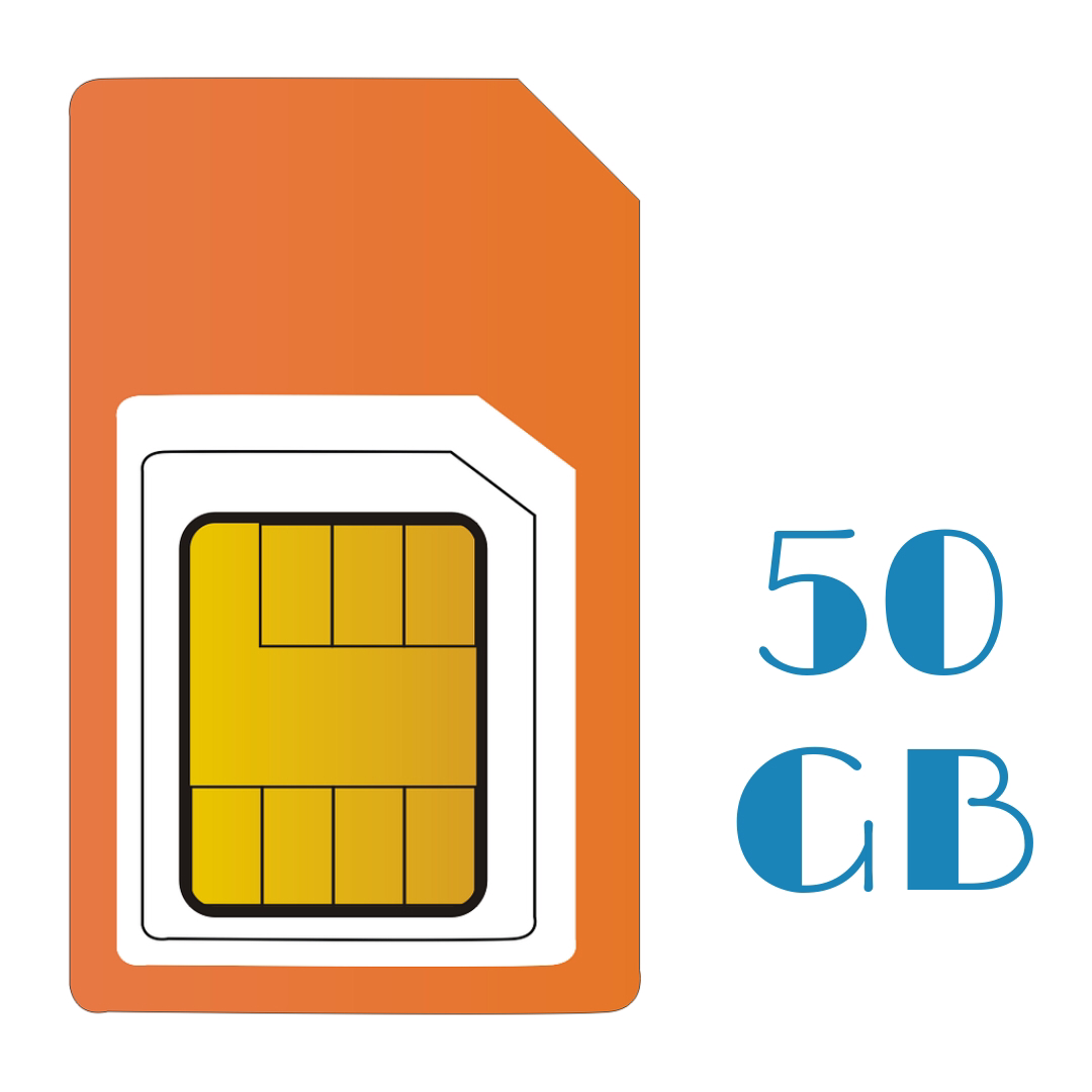 PAY AS YOU GO 50 GB Sim Only