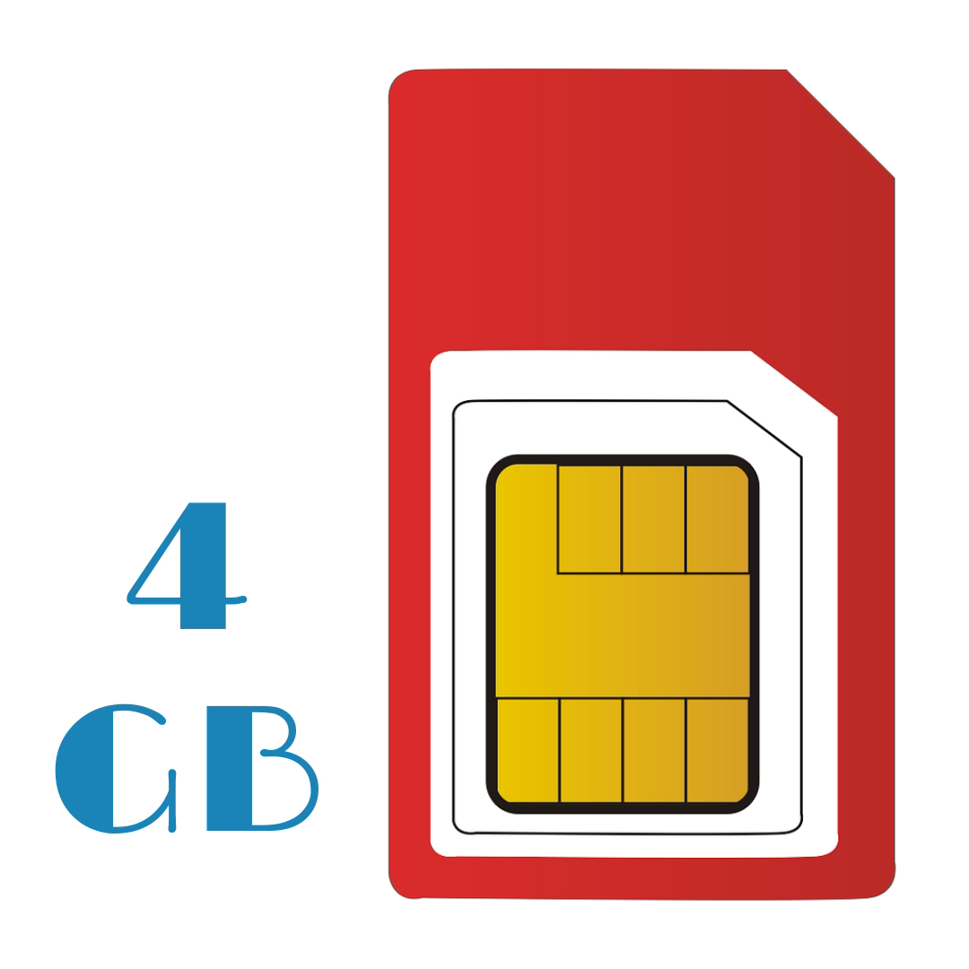PAY AS YOU GO 4 GB Sim Only