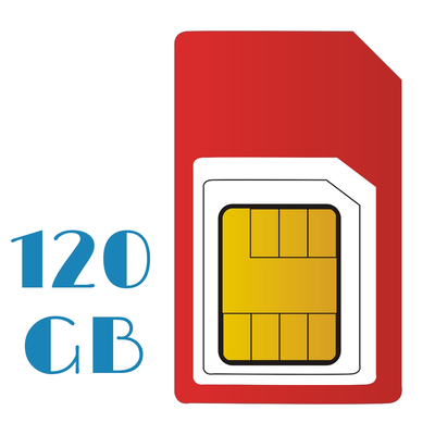 PAY AS YOU GO Unlimited 120 GB Internet Sim Only