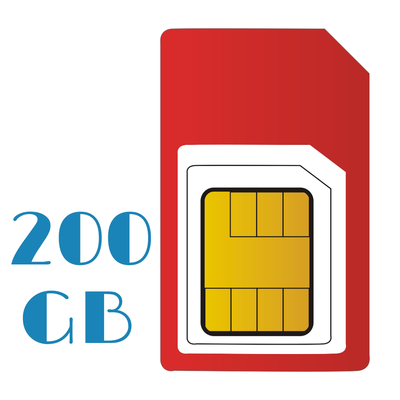 PAY AS YOU GO Unlimited 200 GB Internet Sim Only