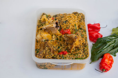 Egusi/ Agushi/Melon Seed Stew (Offered Vegetarian too) - (Select Small, Family Value or Pot Pack Size)