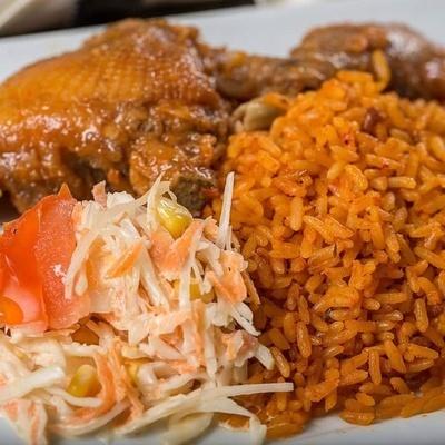 Jollof Rice with Chicken & Beef/ Vegetarian Jollof  - Meal for 2