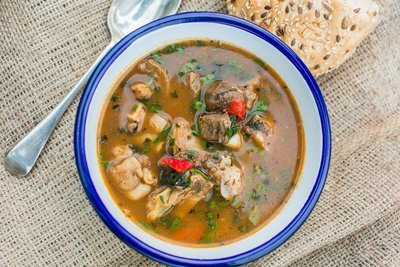Ogbono Soup  (Offered Vegetarian too )  - ( Select Small, Family Value or Pot Pack Size)