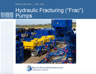 "Hydraulic Fracturing (""Frac"") Pumps - Cost & Prices Section"