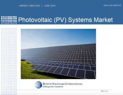 Photovoltaic (PV) Systems Market - Operations & Technology Section