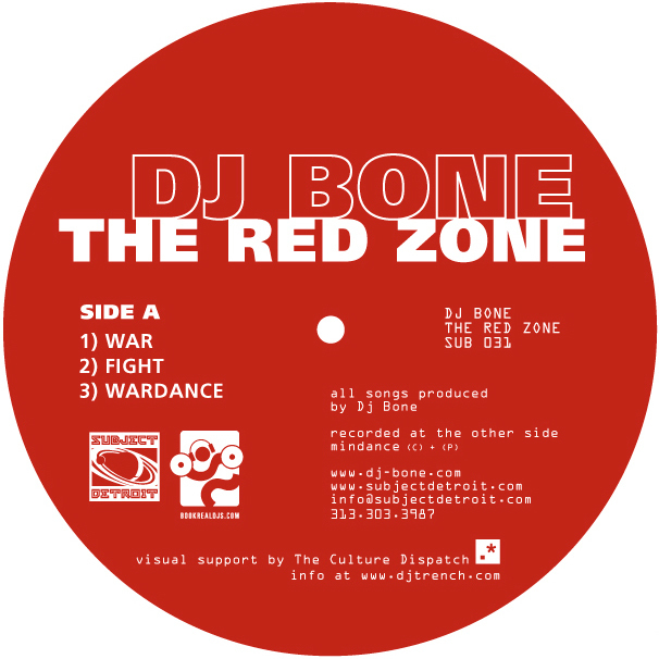 SUB031 | THE RED ZONE EP | DJ BONE **WAV