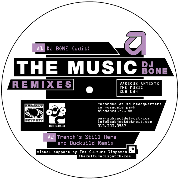 SUB034 | THE MUSIC REMIXES EP (2 X 12) | DJ BONE