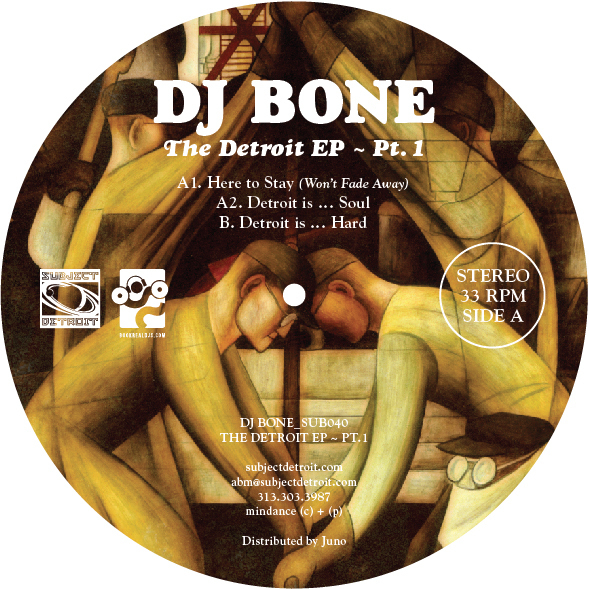 SUB040 | THE DETROIT EP - PT. 1 | DJ BONE **WAV