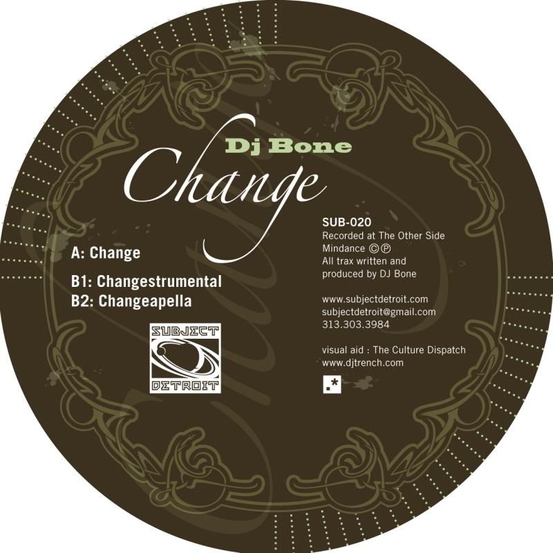 SUB020 | CHANGE EP | DJ BONE **WAV