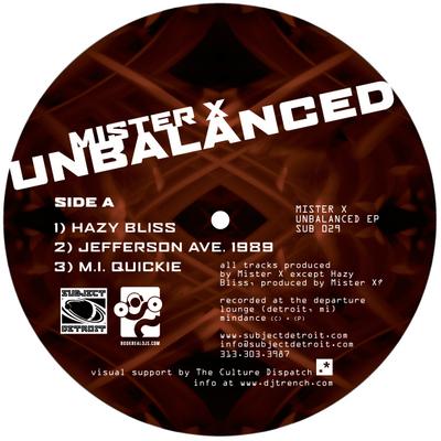 SUB029 | UNBALANCED EP | Mister X