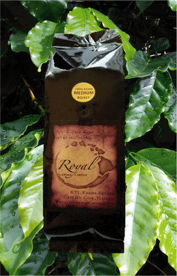 8 oz. Royal Islander Kona Coffee- Whole Bean- Dark Roast