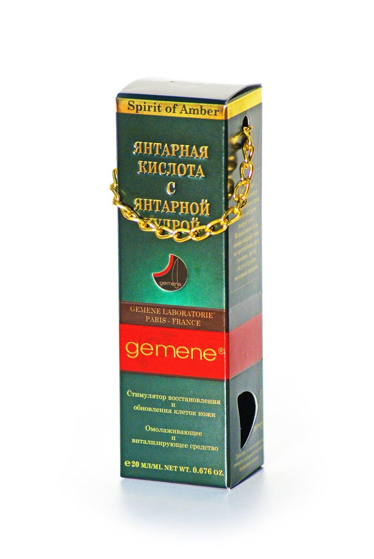 Янтарная кислота с янтарной пудрой, Gemene, 20мл