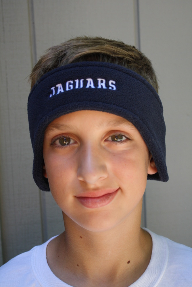 "Fleece headband with FRONT  ""JAGUARS"" embroidered logo"