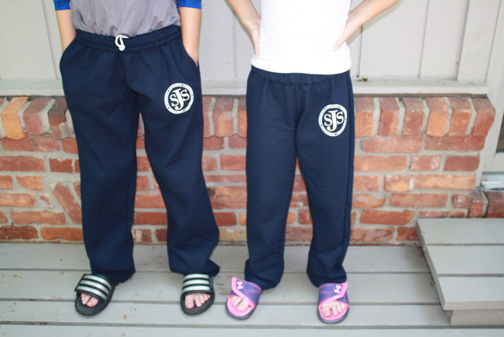 School Approved open bottom sweatpant