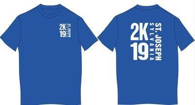 2K19 Next Level Short sleeved T-shirt--WHITE IMPRINT