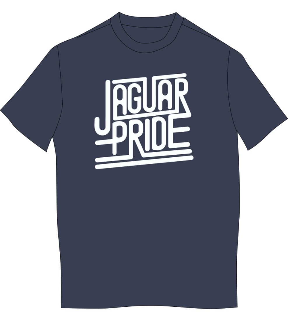 JAGUAR PRIDE Next Level SHORT sleeved T-shirt--WHITE IMPRINT