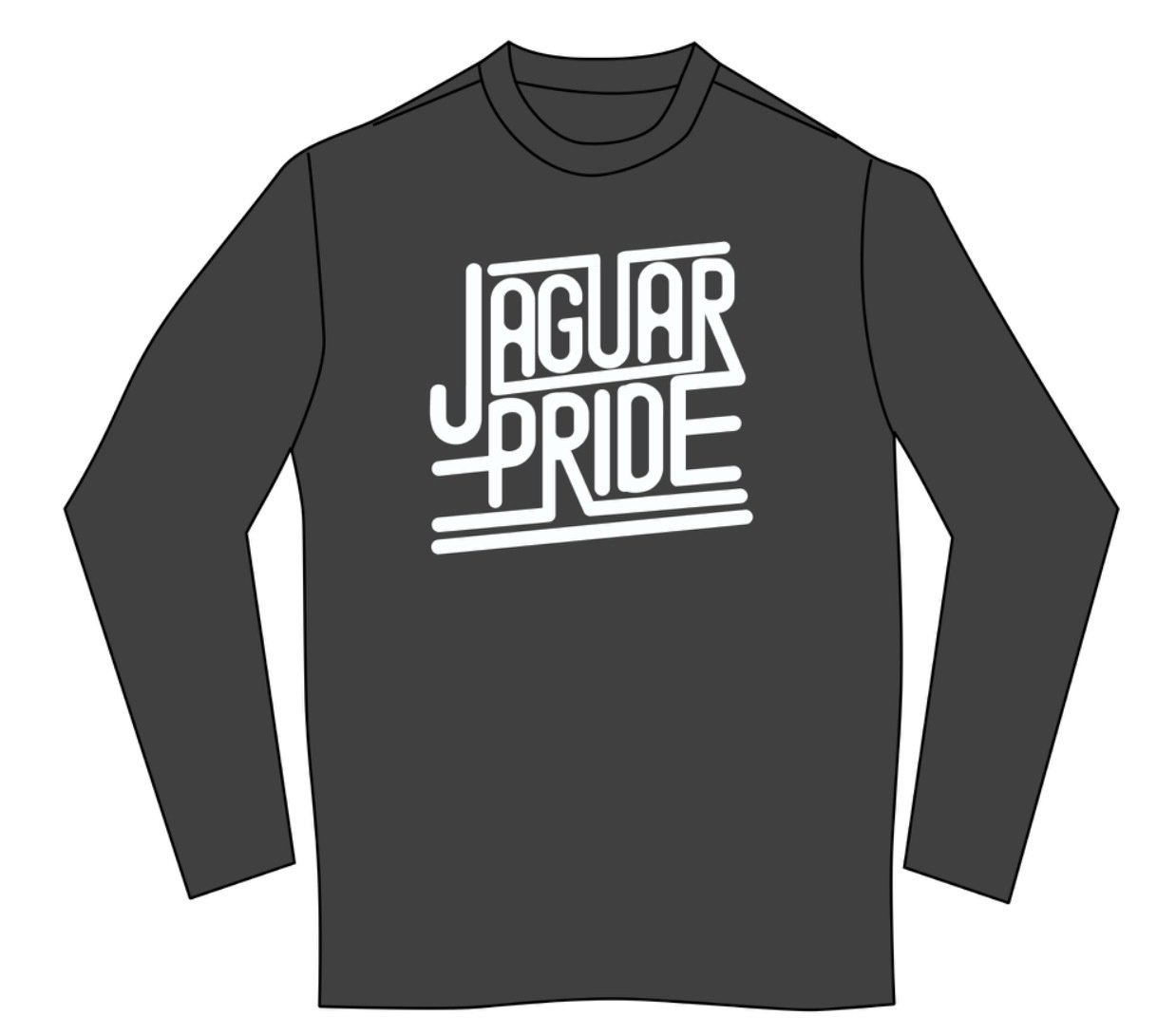 JAGUAR PRIDE Long sleeved T-shirt--WHITE IMPRINT