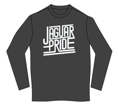 JAGUAR PRIDE Long sleeved T-shirt--WHITE IMPRINT