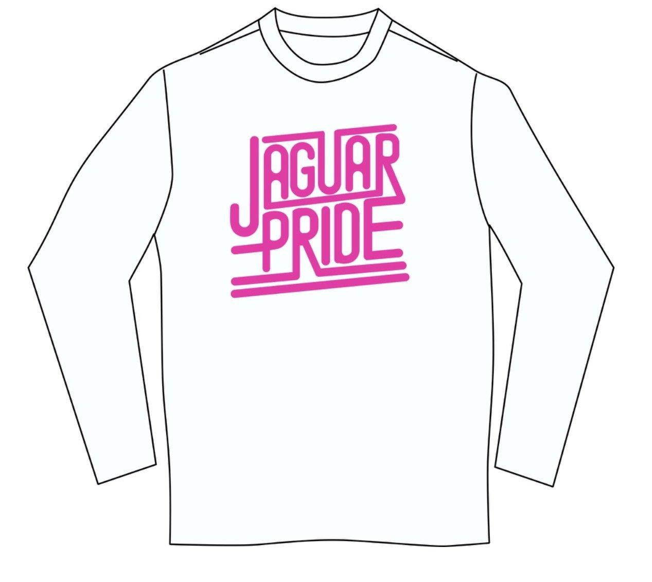 JAGUAR PRIDE Long sleeved T-shirt--NEON PINK IMPRINT
