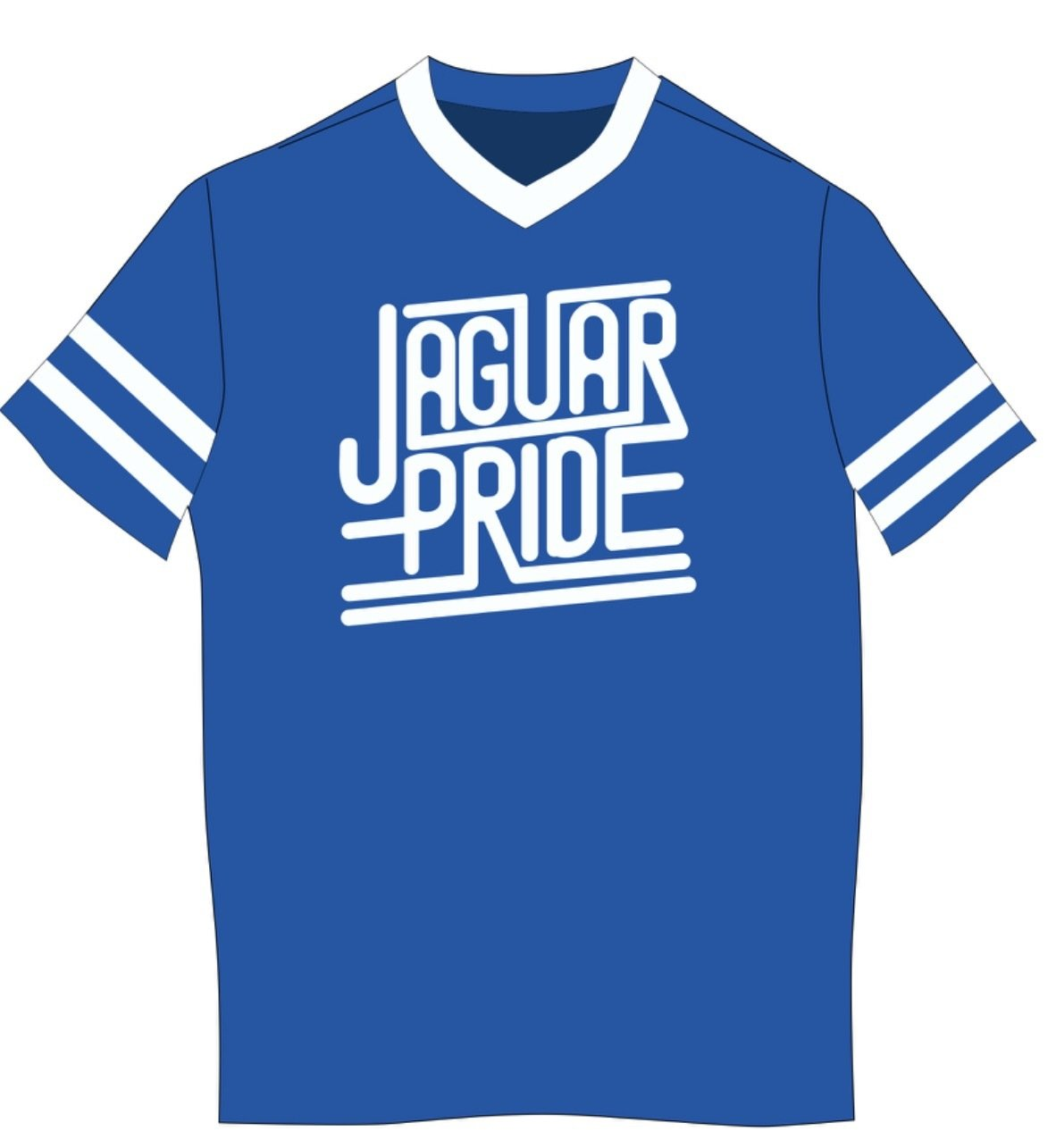 AUGUSTA Sleeve Stripe Jersey -- JAGUAR PRIDE - WHITE IMPRINT