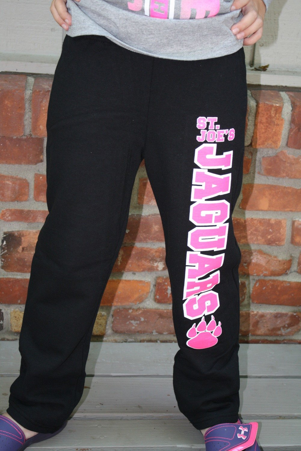 """Jaguar"" PAW PRINT Open Bottom Sweatpant"