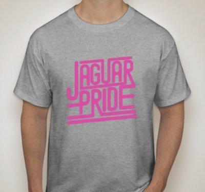 JAGUAR PRIDE Next Level SHORT sleeved T-shirt--NEON PINK IMPRINT