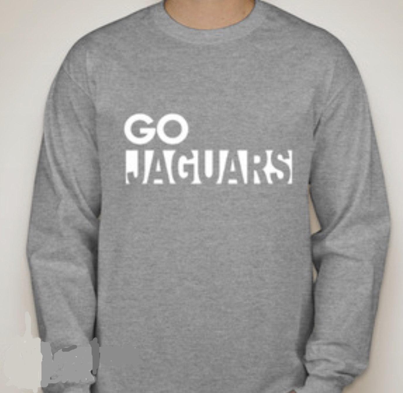GO JAGUARS  Long sleeved T-shirt--WHITE IMPRINT