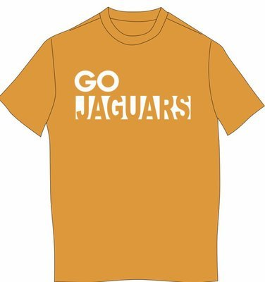 GO JAGUARS Next Level SHORT sleeved T-shirt--WHITE IMPRINT