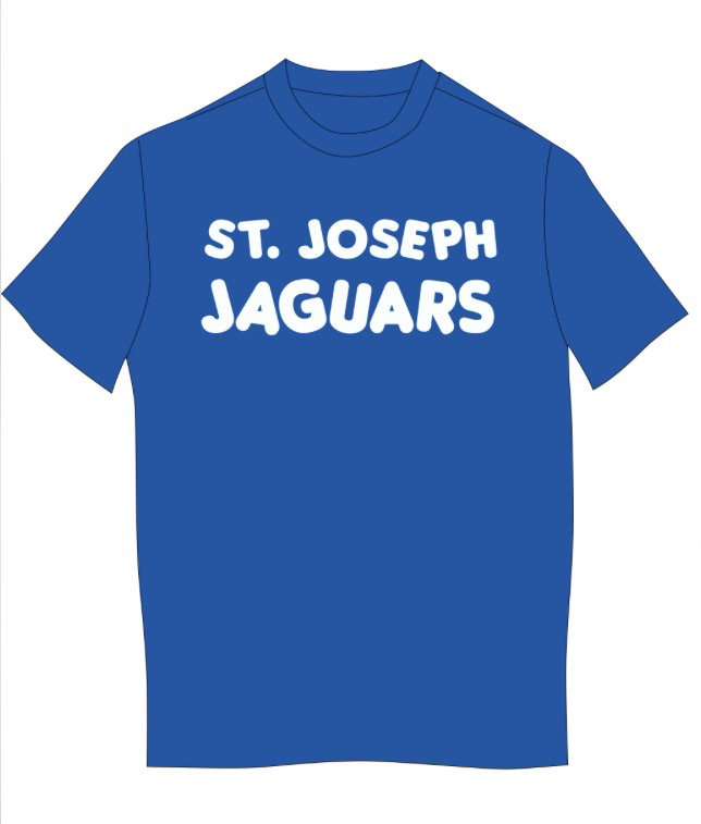 TODDLER Short Sleeve tee - ST. JOSEPH JAGUARS- WHITE imprint