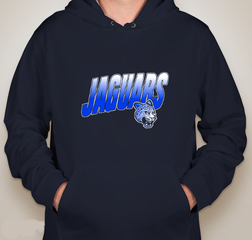 Augusta Wicking fleece hoodie - ROYAL JAGUAR FADE