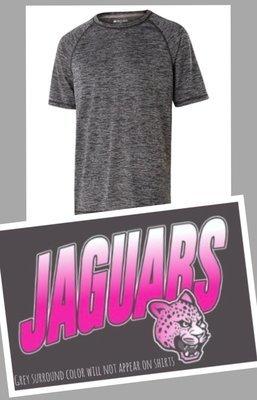 SHORT SLEEVE Performance Shirt - NEON PINK JAGUAR FADE chest imprint